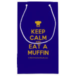 [Chef hat] keep calm and eat a muffin  Gift Bag Small Gift Bag
