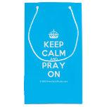 [Crown] keep calm and pray on  Gift Bag Small Gift Bag