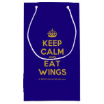 [Crown] keep calm and eat wings  Gift Bag Small Gift Bag
