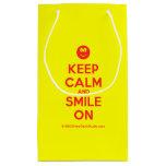 [Smile] keep calm and smile on  Gift Bag Small Gift Bag