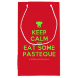 [Chef hat] keep calm and eat some pasteque  Gift Bag Small Gift Bag