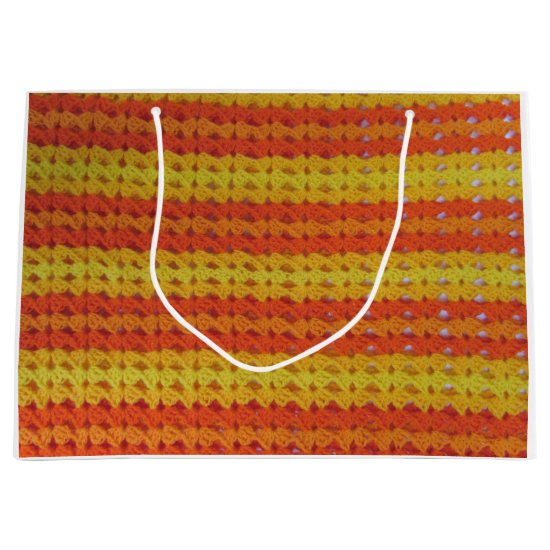 Gift Bag - Yellow and Orange crochet pattern (Lrg)