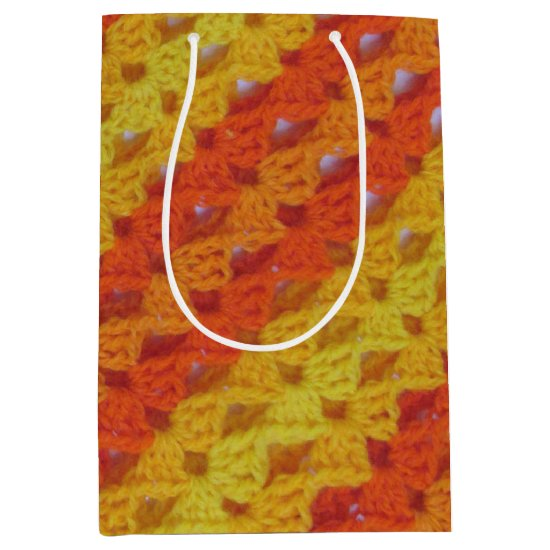 Gift Bag - Yellow and Orange diagonal pattern