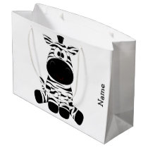 Gift Bag. Zebra. Large Gift Bag