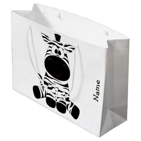 Gift Bag. Zebra. Large Gift Bag