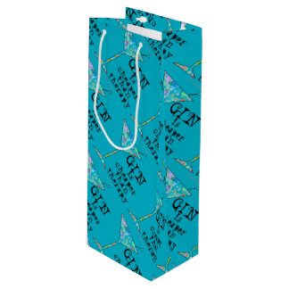 GIFT BAGS - GIN IS CHEAPER THAN THERAPY WINE GIFT BAG