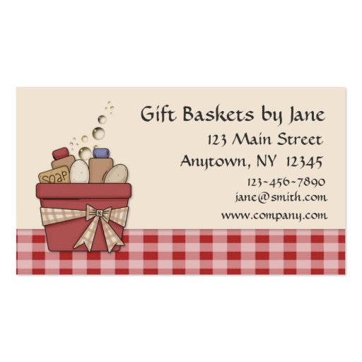 Gift Basket Business Card