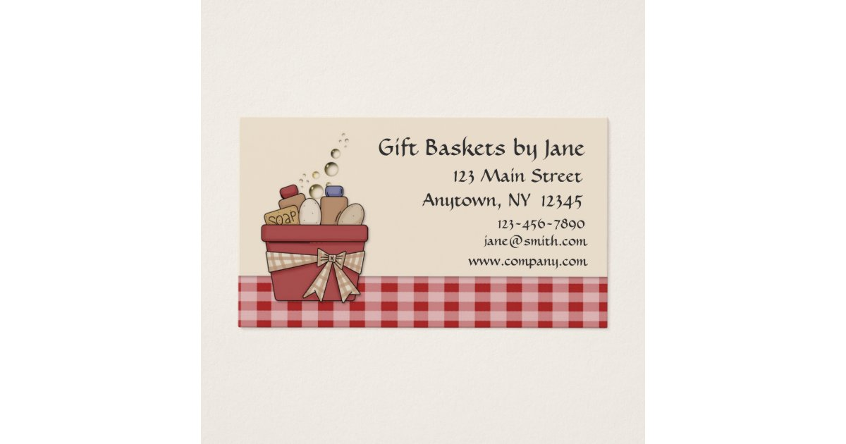 Gift Basket Business Card | Zazzle.com
