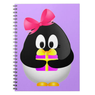 Gift Bearing Penguin Notebook