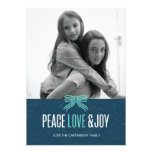 Gift Blue Holiday Photo Card