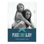 Gift Blue Holiday Photo Card Personalized Invitation