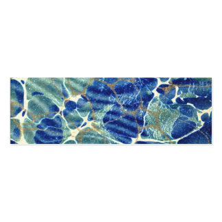 Gift Book Blue Batik Marble Bookmark Double-Sided Mini Business Cards (Pack Of 20)