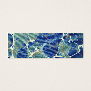 Bookmark business cards templates zazzle gift book blue batik marble bookmark mini business card colourmoves