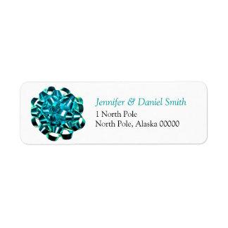 Gift Bow Christmas Card Self Adhesive Label Custom Return Address Label