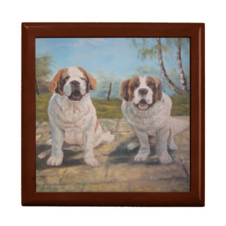 Gift Box Ann Hayes Painting Two St Bernards
