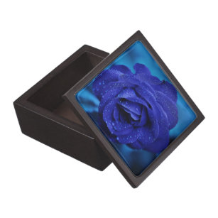 Blue Roses Flowers Gift Boxes Keepsake