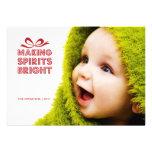 Gift Box Christmas Photo Holiday Card Custom Invitation