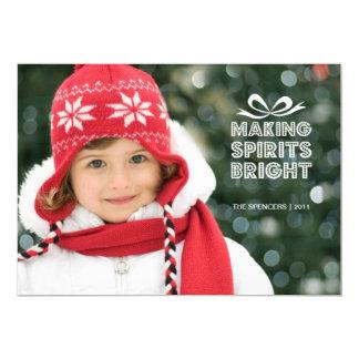 "Gift Box Christmas Photo Holiday Card 5"" X 7"" Invitation Card"