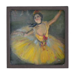 GIFT BOX - DEGAS YELLOW TUTU - BALLERINA - ARTWORK