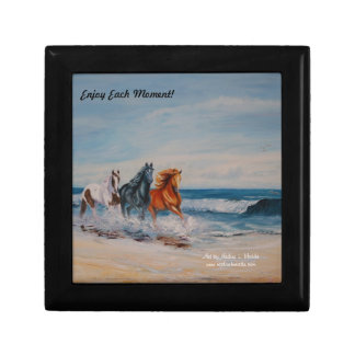 Gift Box, Horses in the surf, Enjoy Each Moment! Gift Box