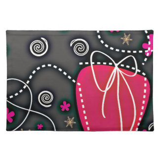 Gift Box PINK BLACK WHITE EMO GIRLY BACKGROUNDS WA Place Mats