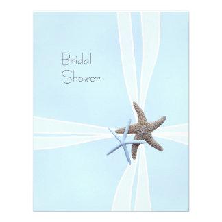 Gift Box Starfish Shower Invitations, 5x4