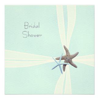 Gift Box Starfish Square Shower Invitations