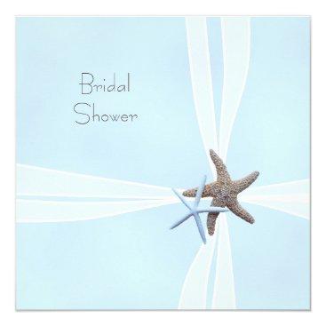 Beach Themed Gift Box Starfish Square Shower Invitations