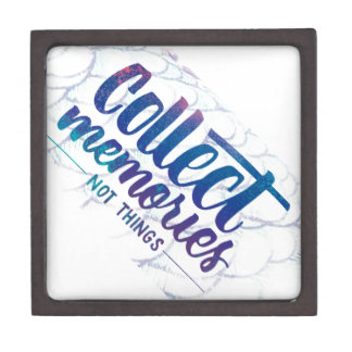 """gift box with """"Collect Memories"""" saying"""