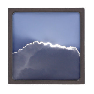 gift box with photo of cloud with silver lining