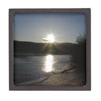 gift box with photo of Yukon River