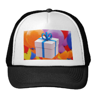 gift box with ribbon trucker hat