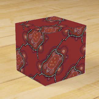 gift box with turtle aborigines style