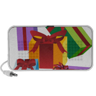 Gift Boxes and Bows Icons Laptop Speaker