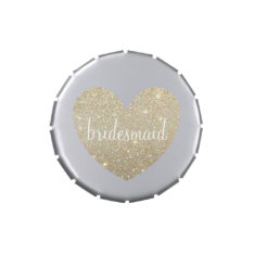 Gift Candy Tin - Heart Fab Bridesmaid at Zazzle