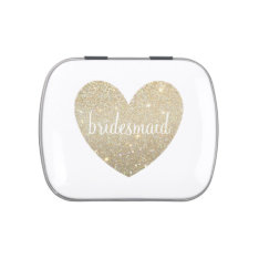 Gift Candy Tin - Heart Fab Bridesmaid at Zazzle