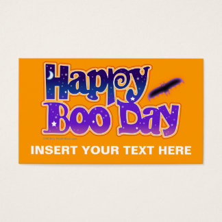 Gift Card, Business Card, Tag  - HAPPY BOO DAY - H
