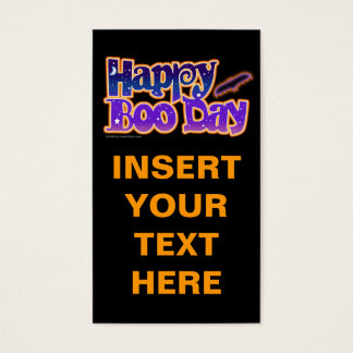 Gift Card, Business Card, Tags - HAPPY BOO DAY - H