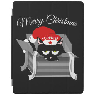 Gift Cat Merry Christmas iPad Cover