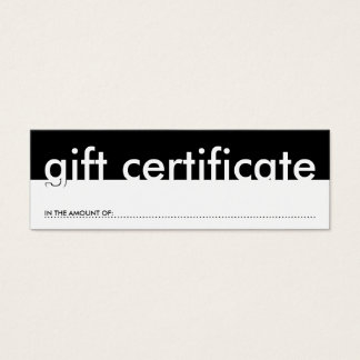 gift certificate (blank amount)