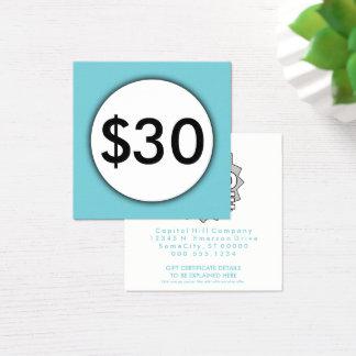 gift certificate blue spot