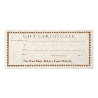 Gift Certificate Card Custom Form