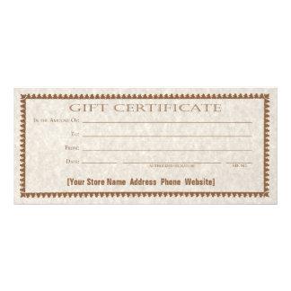 Gift Certificate Card Custom Form