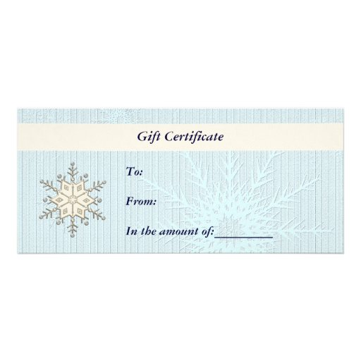 Gift certificate christmas business rack card zazzle for Zazzle gift certificate