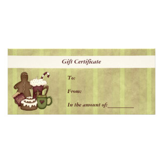 Gift Certificate-Christmas-Business Rack Card