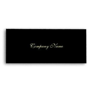 Gift Certificate Envelope--Black