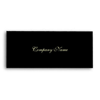 Gift Certificate Envelope--Black Envelope