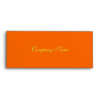 Gift Certificate Envelope--Orange Envelope