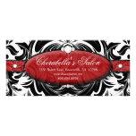 Gift Certificate Fashion Salon Jewelry Damask Rack Card Template