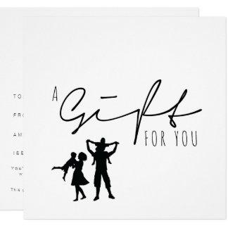 GIFT CERTIFICATE | Gold Brush Minimalist Card
